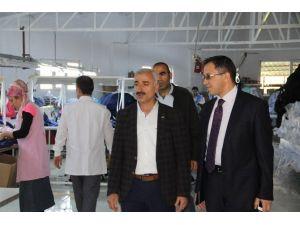 Kaymakam Sağ'dan, Tekstil Ziyareti