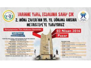 """Bozüyük Belediyesi'nden Metristepe Zafer Anıtı'na """"Tarihine Yürü, Ecdadına Sahip Çık"""" Yürüyüşü"""