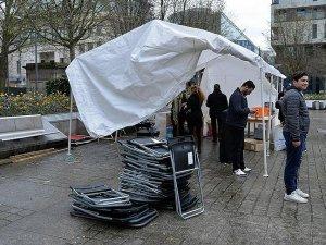 PKK'nın Brüksel'deki çadırı kaldırıldı