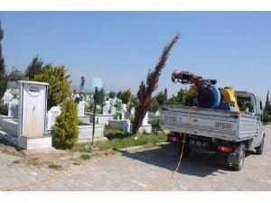 Bandırma'da Mezarlıklara Bakım