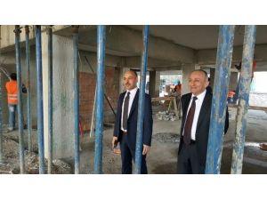 Milli Eğitim Ve Halk Eğitim Binası İnşaatı Sürüyor