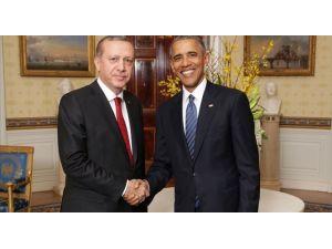 Cumhurbaşkanı Erdoğan'ın ABD Başkanı Obama İle Görüşmesi