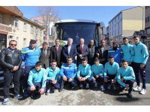 Bilek Güreşi Sporcuları Antalya'ya Uğurlandı