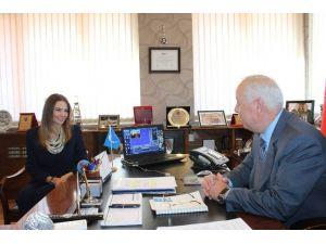 Azeri Milletvekili Paşayeva Başkan Akdemir'i Ziyaret Etti