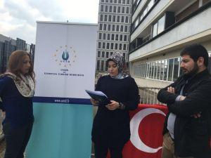Fransa'da Türkler, terör saldırılarını kınadı
