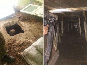 Teröristlerin açtığı tüneller su ve çamurla doldu