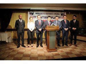 Meslekte Kayseri Grubu Adaylarını Tanıttı