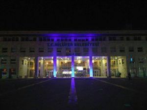 Nilüfer Belediyesi Otizm İçin Mavi Işık Yaktı