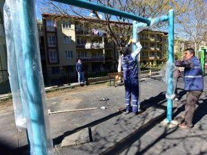 Parklarda Bakım Ve Düzenleme Çalışması Yapıldı