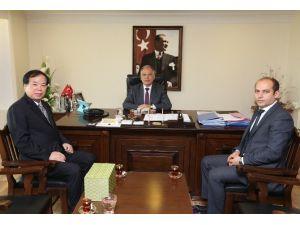 Çin İzmir Başkonsolosu'ndan Başkan Bakıcı'ya Ziyaret