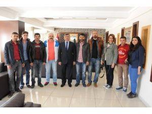 Medya Mensupları Başkan Akdoğan'ı Ziyaret Etti