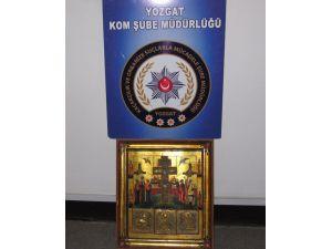 Yozgat'ta 1 milyon 200 bin liralık tarihi eser tablo ele geçirildi
