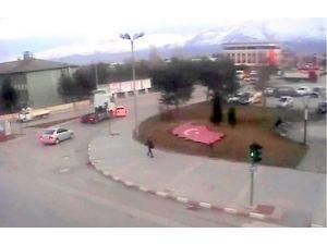 Erzincan'da Mart Ayı Trafik Kazaları MOBESE'de