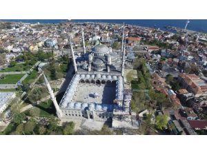 Sultanahmet Camii'nde 400 Yıl Sonra Yapılan Restorasyon Havadan Görüntülendi