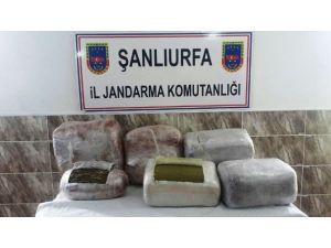 Şanlıurfa'da 58 Kilo Esrar Ele Geçirildi