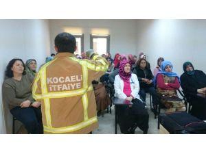 İtfaiye'den Ko-mek Kursiyerlerine Güvenli Yaşam Eğitimi