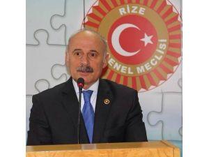 Rize İl Genel Meclisi Başkanı Mehmet Kazancı Yeniden Başkan Seçildi