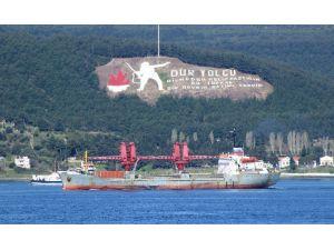 Rus Askeri Kargo Gemisi Çanakkale Boğazından Geçti