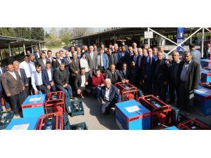 Bursa Büyükşehir Belediyesi'nden köylülere jeneratör ve hilti
