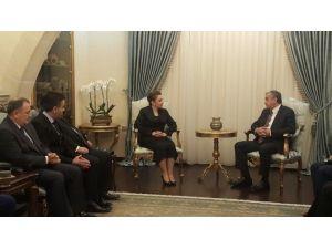 Türkiye İş Dünyasının Başkanı; KKTC Cumhurbaşkanı Mustafa Akıncı Tarafından Kabul Edildi