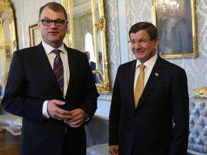Başbakan Davutoğlu Finlandiya Başbakanı Spila ile görüştü