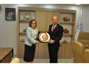 Gagiad Yönetim Kurulu Fatma Şahin'i Makamında Ziyaret Etti
