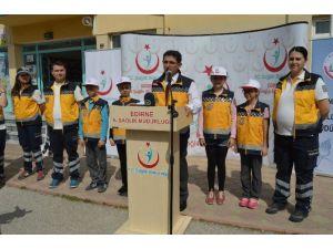 Edirne'de 'Ambulansa Yol Ver, Yaşama Yol Ver' Etkinliği