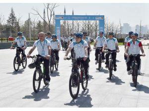 Bisiklet Turu'nun lansmanı, Cumhurbaşkanlığı Külliyesi'nde yapıldı
