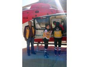 Ambulans Helikopter İbrahim Bebek İçin Havalandı