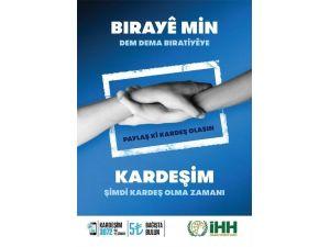 """Bitlis İHH'dan """"Kardeşim - Birayê Min"""" Yardım Kampanyası"""