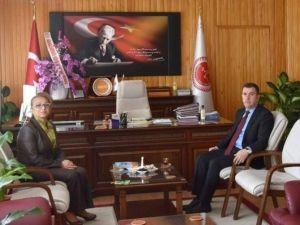 Rektör Kılıç, Genel Sekreter Mustafa Eldivan'a Hayırlı Olsun Ziyaretinde Bulundu
