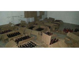 Tarsus'ta sahte viski ele geçirildi