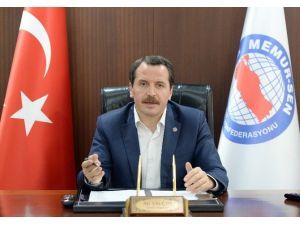 Memur-sen Genel Başkanı Yalçın'dan Regaib Kandili Mesajı