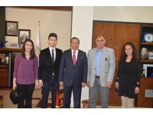 Stajyer Öğretmenler Başkan Toltar'ı Ziyaret Etti