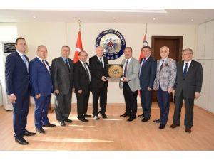 DTO Heyei Denizli Emniyet Müdürü Namal'ı Ziyaret Etti