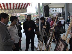 Nazilli'de Ev Hanımları Kırkyama Sergisi Açtı