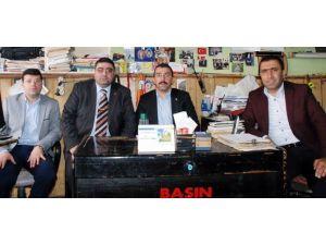 AK Parti İl Başkanı Çalkın'dan KKDGC Başkanı Daşdelen'e Tebrik Ziyareti
