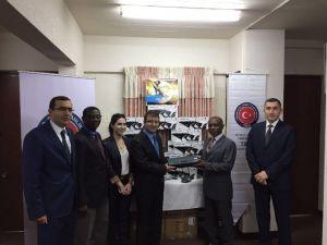 TİKA'dan Guyana Dışişlerı Bakanlığı'na Donanım Desteği