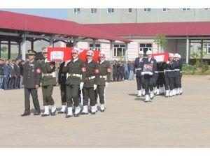 Şehit Emniyet Amiri Ve Binbaşı İçin Tören Düzenlendi