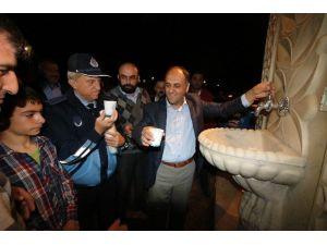 Beyşehir'de İkram Çeşmesinden Sıcak Süt Aktı