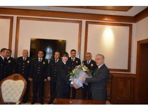 Malatya Emniyet Teşkilatı, Vali Kamçı'yı Ziyaret Etti