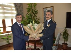 Emniyet Teşkilatı 171. Kuruluş Yıldönümünde Vali Bektaş'ı Ziyaret Etti