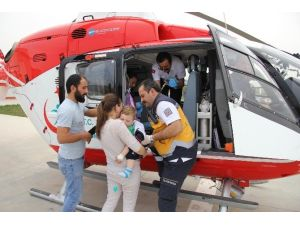 Ambulans Helikopter 20 Aylık Bebek İçin Havalandı
