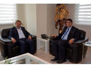 """AK Partili Samani'den Aesob Başkanı Dere'ye """"Hayırlı Olsun"""" Ziyareti"""