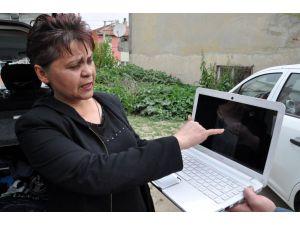 Ata eziyet vatandaşın cep telefonu kamerasına yansıdı