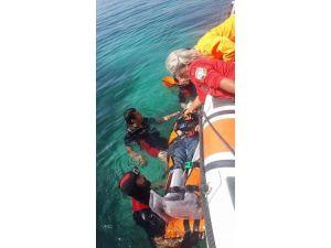 Kayalıklara Düşen Şahsı AKUT Ve Sahil Güvenlik Kurtardı