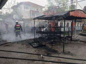Lunapark'ta Korkutan Yangın