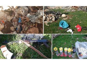 Diyarbakır'da uzun namlulu silah ile el yapımı patlayıcılar ele geçirildi