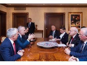 TBMM Başkanı Kahraman, Arnavut mevkidaşı ile görüştü