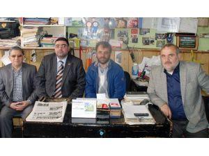 Yeşilay Cemiyeti Kars Şubesinden KKDGC Başkanı Daşdelen'e Tebrik Ziyareti
